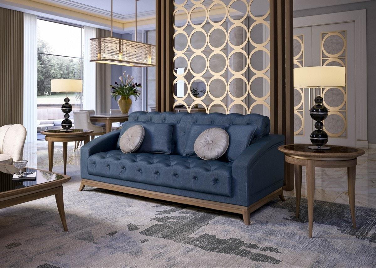 Art. 5100, Tufted sofa, with walnut base