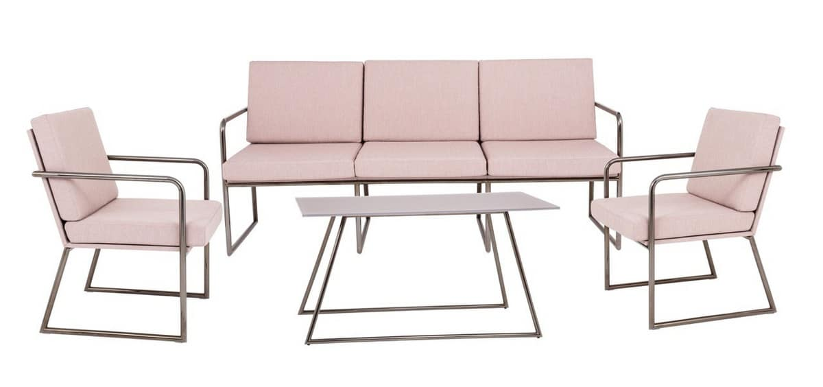 Art.Hellen sofa, Modern couch for contract and office furniture