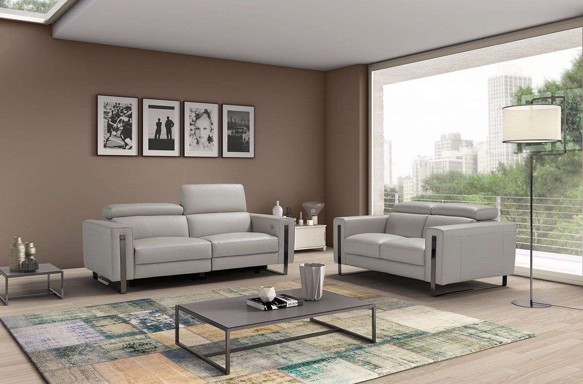 Ashley, Sofa with a modern and linear design