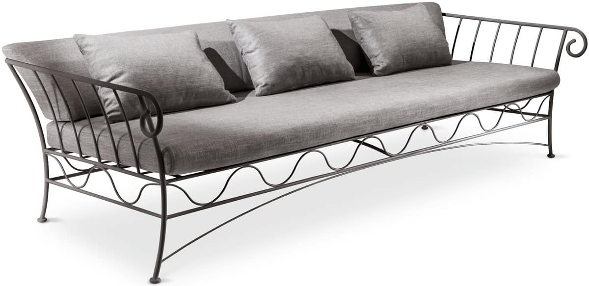 Bahamas new sofa, 3 seater sofa, metal structure, for modern living room