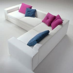 Beverly, Removable modular sofa, padded in polyurethane