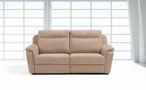 Briga, Comfortable sofa in leather or fabric