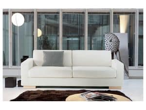 Brug, Elegant sofa in polyurethane foam, for offices