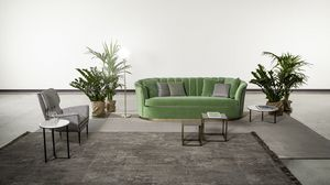 Bruno, Sofa with rounded shapes