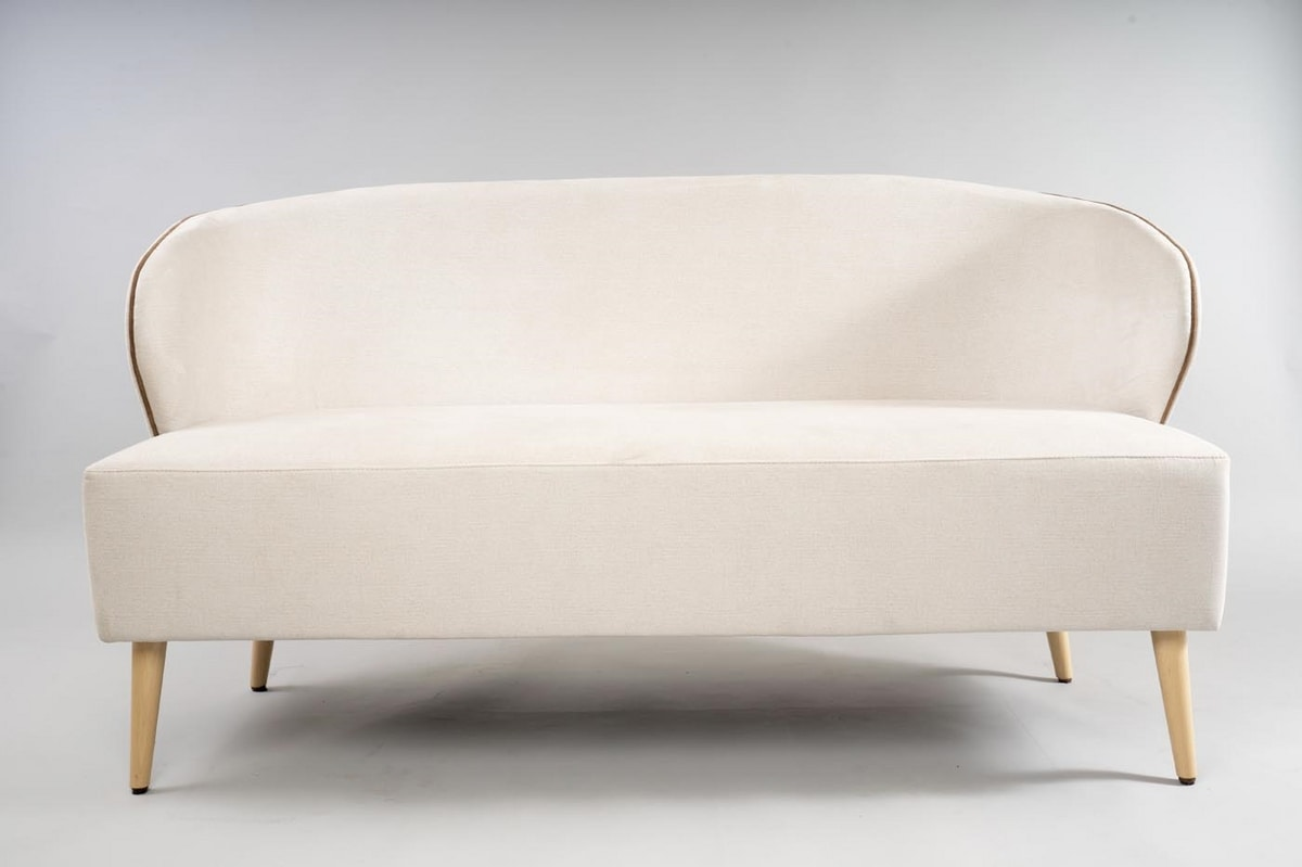 BS468L - Sofa, Small sofa with enveloping sides
