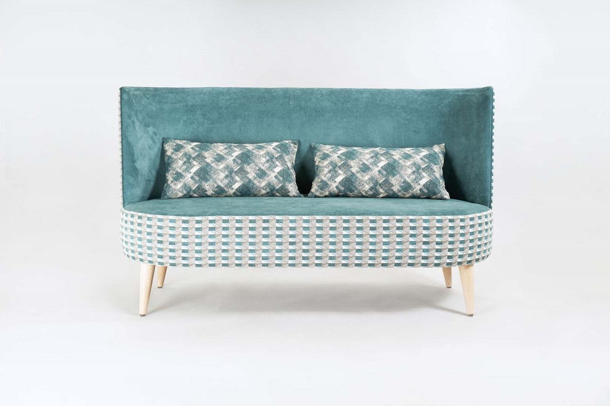 BS528L - Sofa, Sofa with rounded high back