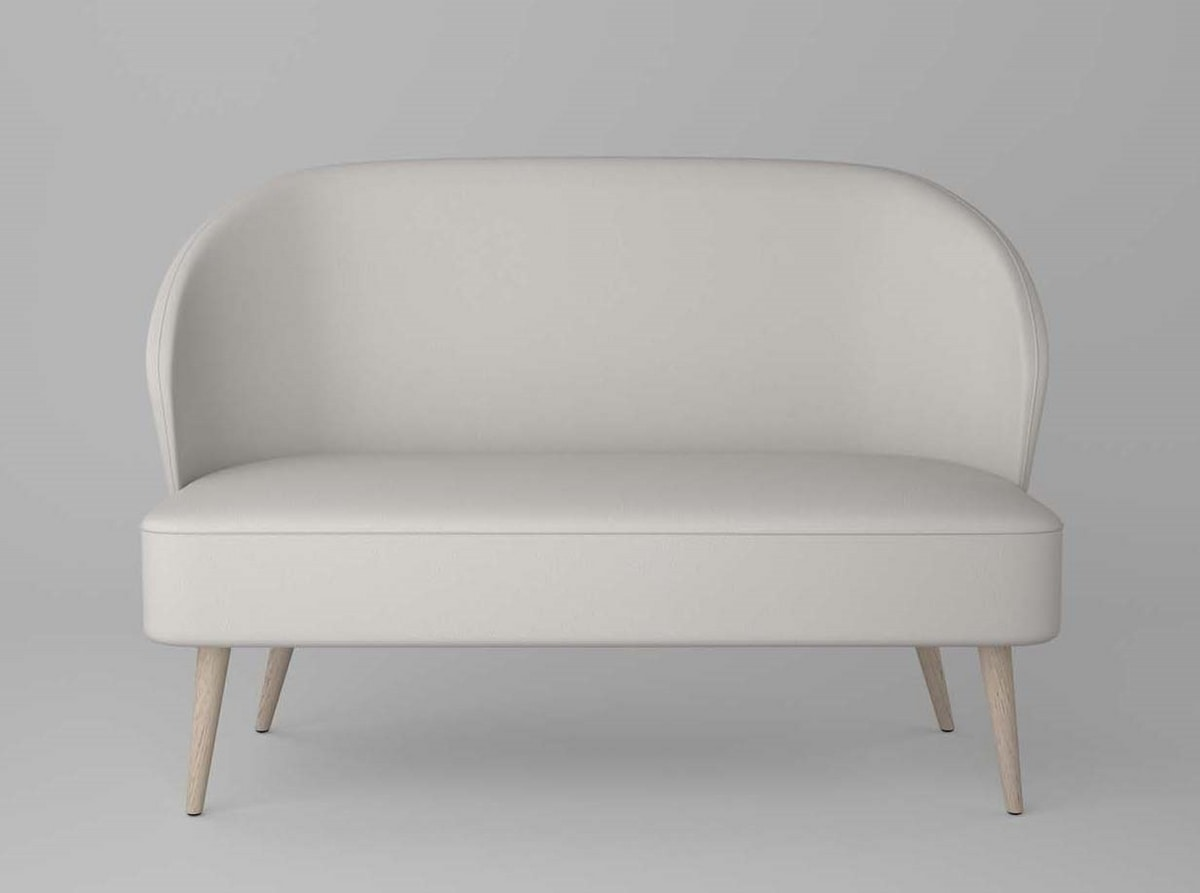 C58D, Small sofa with rounded shapes