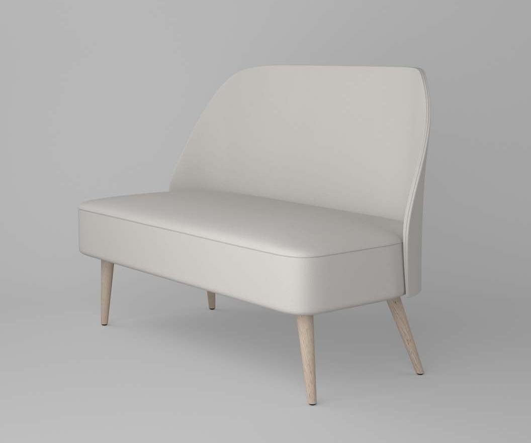 C59D, Small sofa with rounded back