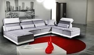 California, Modular sofa with mechanism, genuine leather