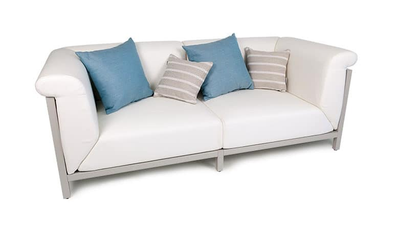 Modern Upholstered Sofa With Visible