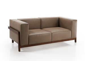 Canaletto, Sofa with solid ash frame