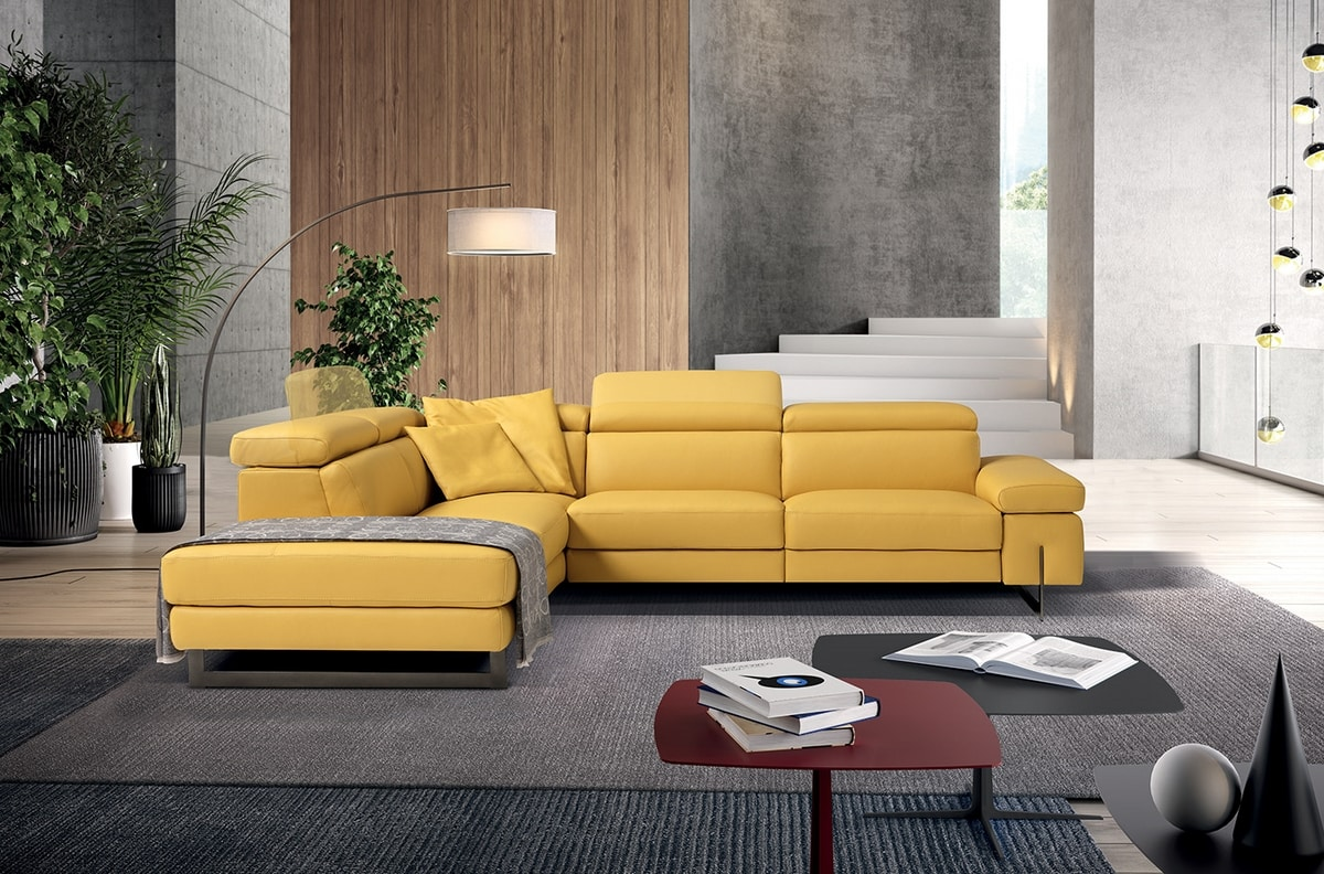 Candice, Sofa with comfortable reclining headrests