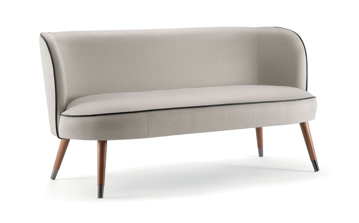 CANDY SOFA 061 D, Small sofa with enveloping lines