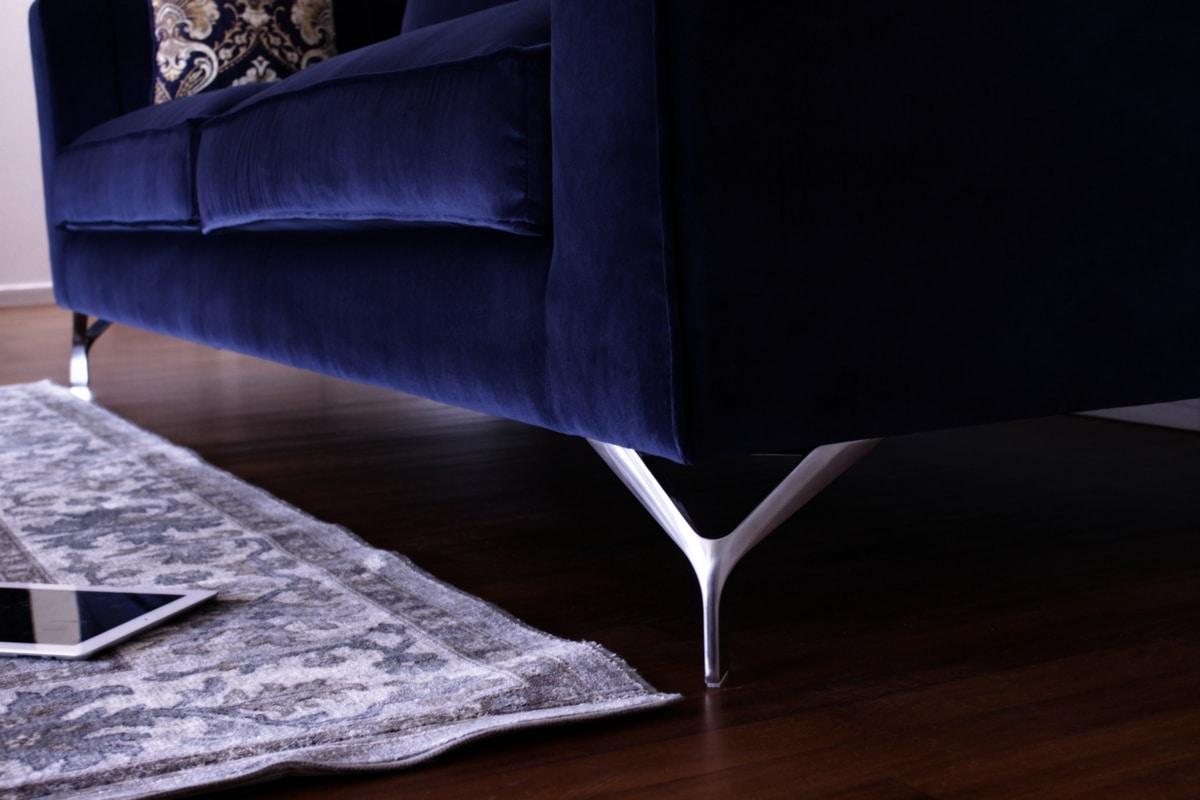Canova, Modern velvet sofa