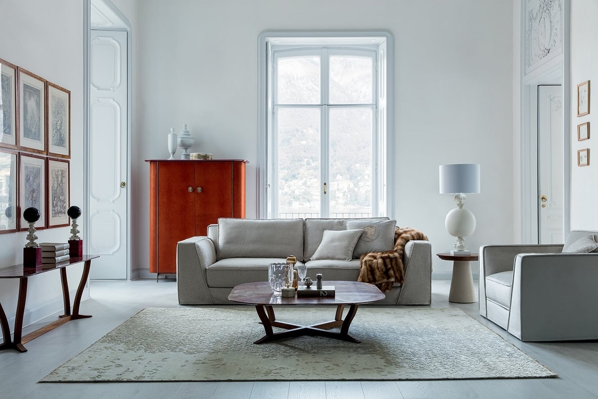 Celine, Sofa with elegant and refined lines