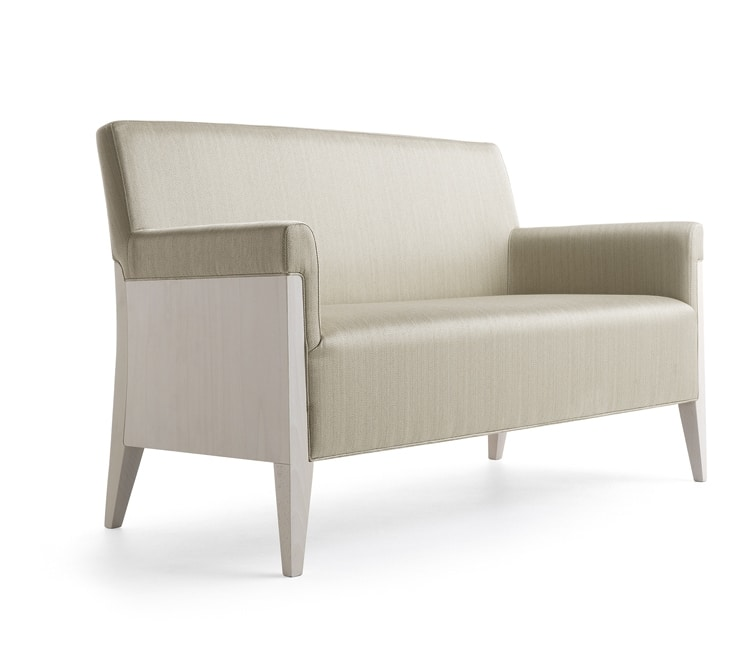 Charme 02551, Sofa in wood for hotel and public areas