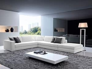 City, Corner sofa, non-deformable padding, for living room