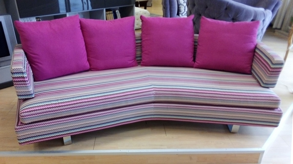 Claudio sofa, Modern sofa, upholstered in fabric