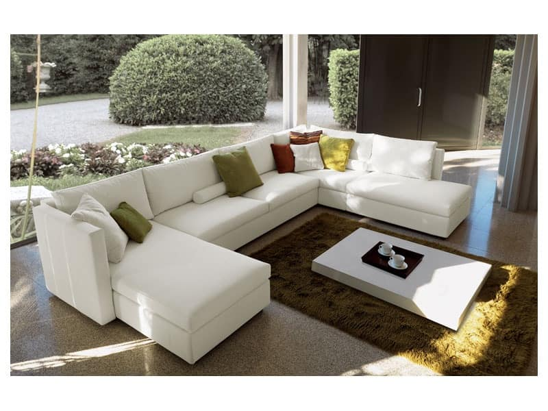 Company Corner Modular Sofa Fully Removable Cover Modern Design
