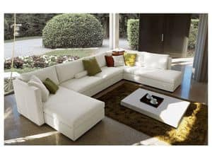 Company corner, Modular sofa, fully removable cover, modern design