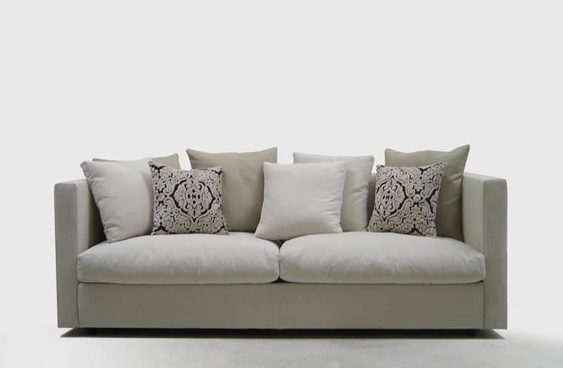 Company, Comfortable sofa, for elegant lounges, with removable fabric upholstery