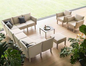 Conga sofa, Modular lounge seating system, for indoors and outdoors