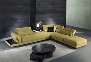 Cox, Fabric sofa with relax mechanism, for living rooms