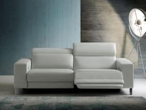 Dexter, Sofa with relax function, leather upholstery