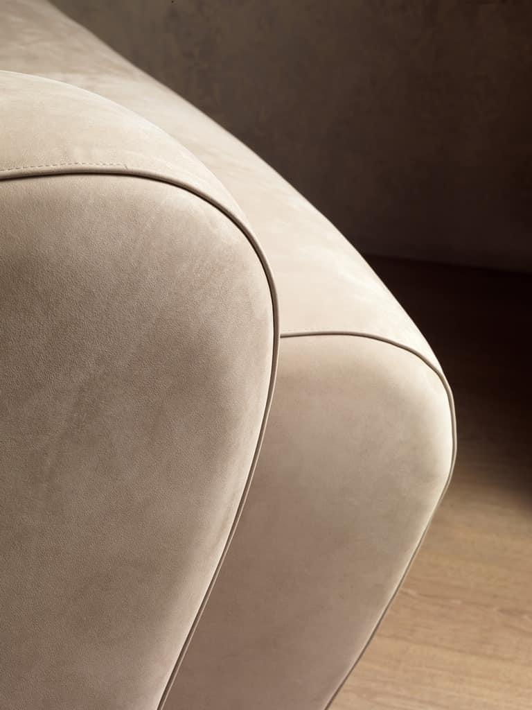 DI18 Morfeo sofa, Modern modular sofa, upholstered with polyurethane