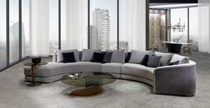 DI43 Desyo Curvy sofa, Sofa capitonné, semicircular shape