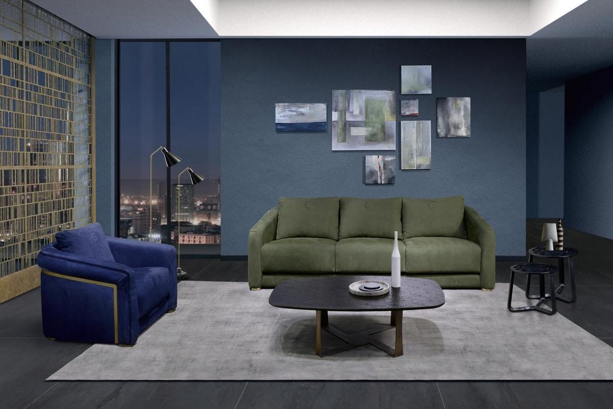 DI55 Desyo sofa, Comfortable three-seater sofa