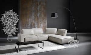 Diapason, Modern sofa with removable cover, padded with polyurethane