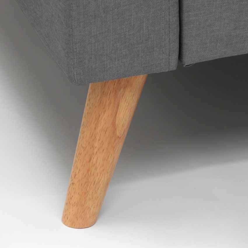 Divano Design Moderno Stile Scandinavo In Tessuto 3 Posti Per Salotto E Cucina ACQUAMARINA, Scandinavian style sofa with large seat