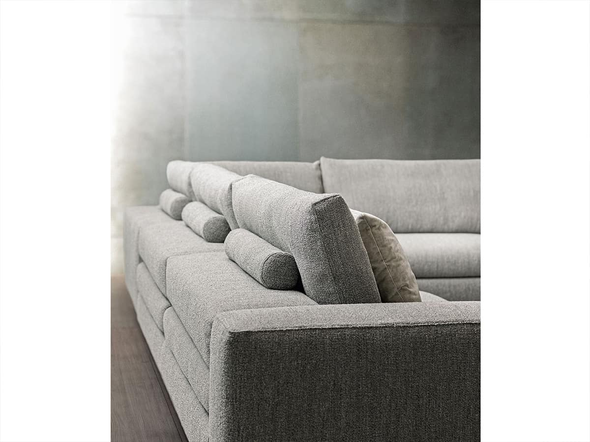Duo, Modular sofa with reclining backrest