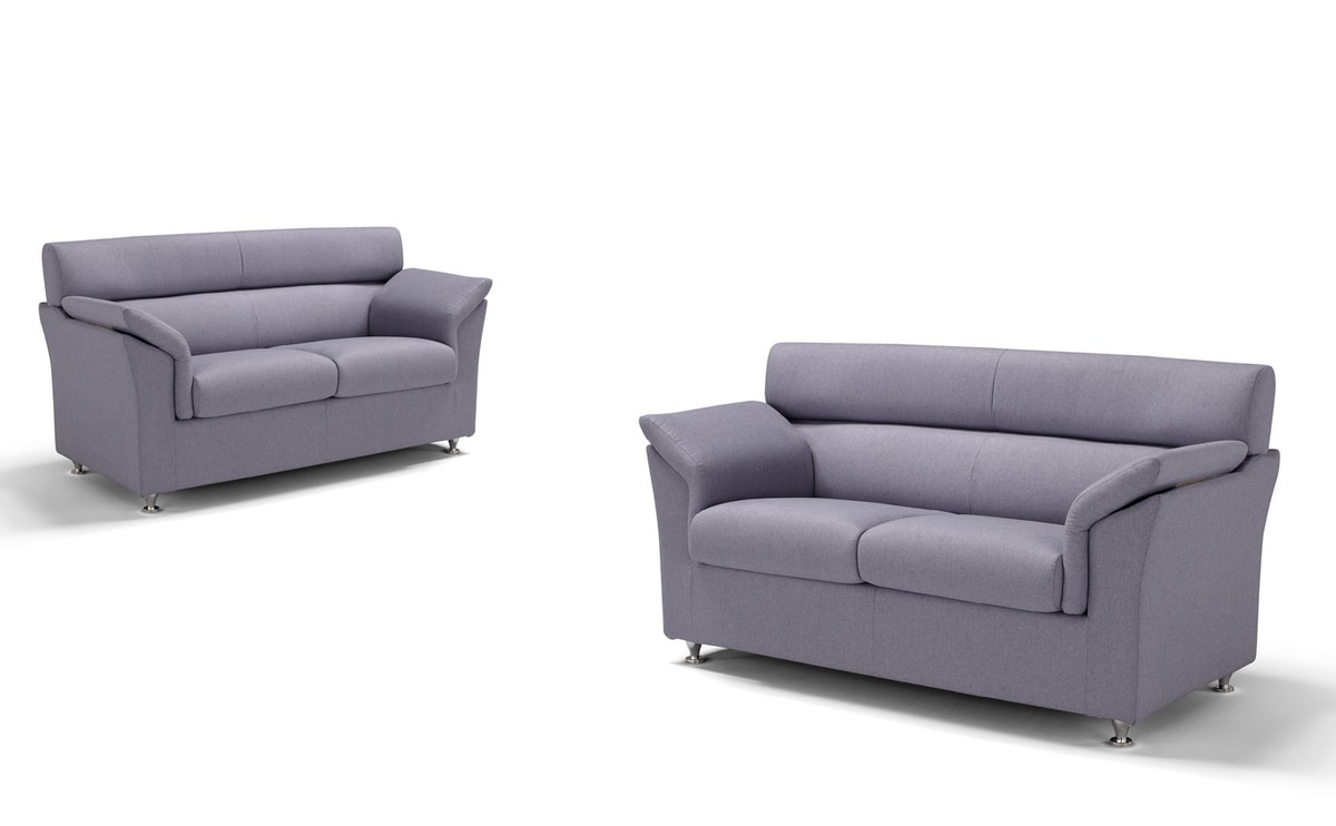 Enza, Sofa with fabric upholstery
