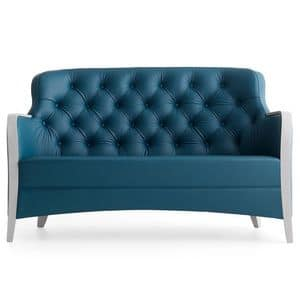 Euforia 00152K, Sofa with revisited classic style suitable fot high level hotels
