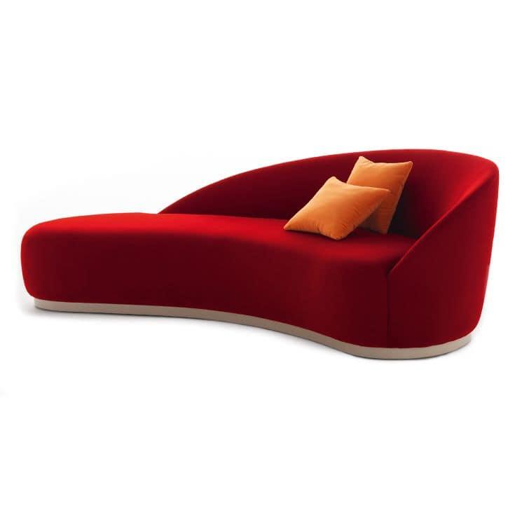 Euforia system 00153DX - 00154SX, Padded sofa with a soft design