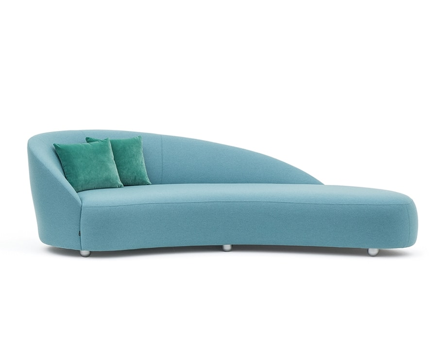 Euforia system 00155DX - 00156SX, Padded sofa with a soft design
