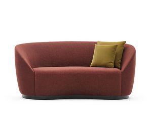 Euforia system 00159, Padded sofa with a soft design