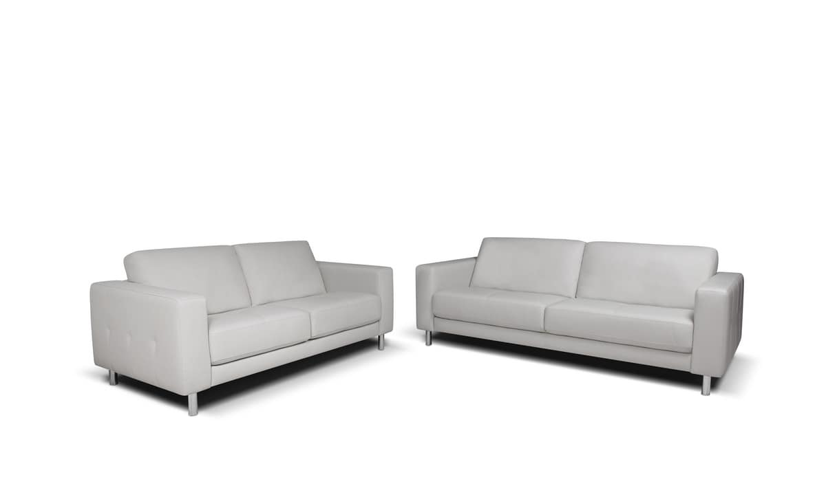 Sofa With Backrest In Polyester Silicon Fiber Idfdesign