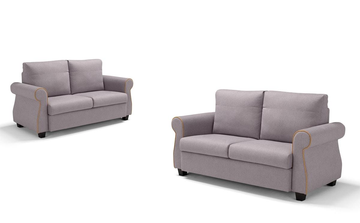 Federica, Sofa with soft shapes