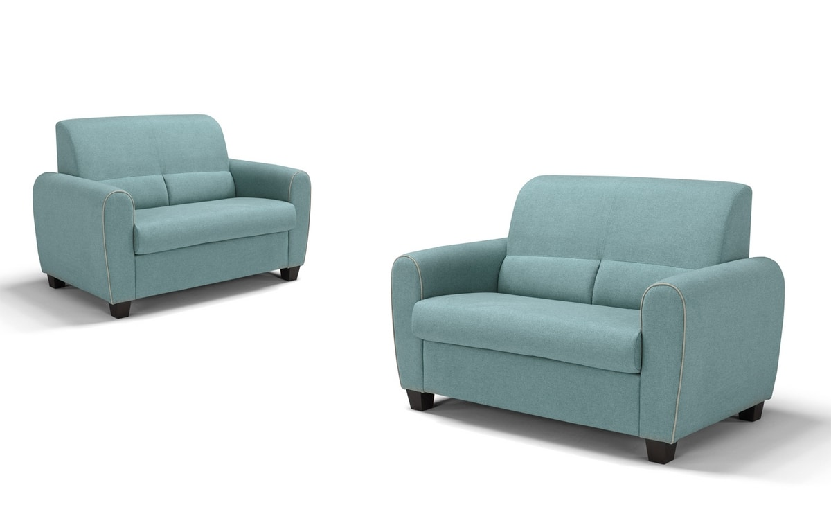 Felix, Small sofa with rounded shapes