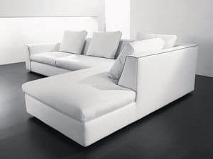Free corner, Corner sofa in wood, polyurethane and acrylic fibers