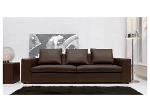Free, Modern sofa, fabric in acrylic fibers, for hotel