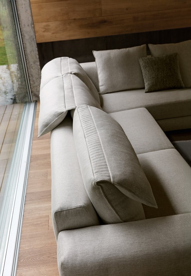 Game, Sofa with adjustable headrest