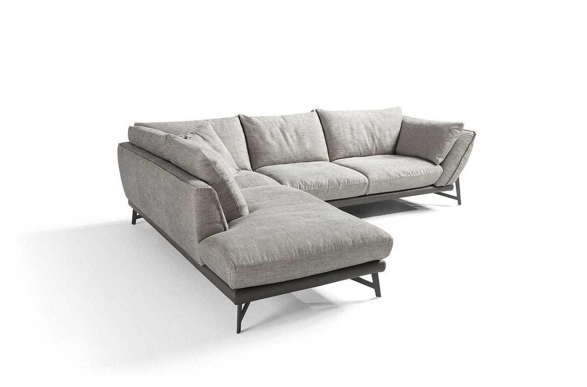 Giada, Sofa with a contemporary shabby design