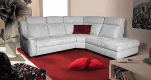 Gilda, Corner sofa with rounded lines