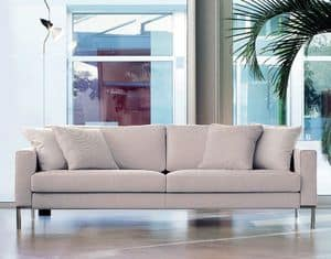 Ginger, Linear sofa with visible feet, for modern office