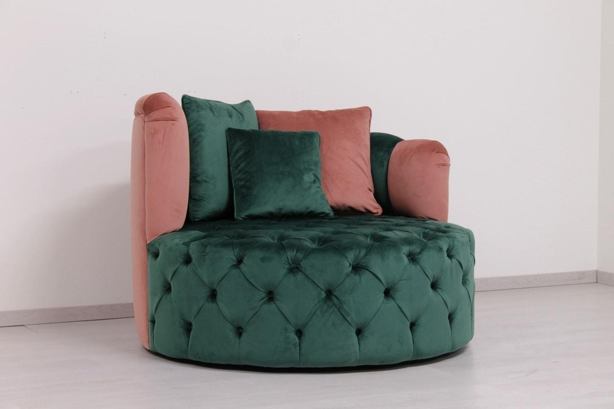 Glamour, Round swivel sofa