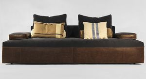 Globe, Modern sofa on project, in leather or fabric